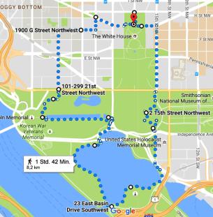 Washington DC Lauf 8,2km